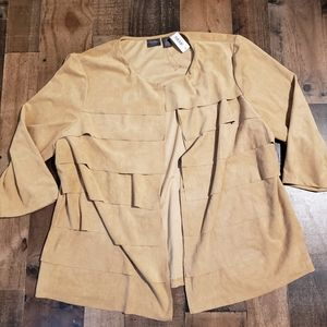 NWT 3 Chico's Faux Suede Jacket